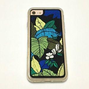 UO Zero Gravity Jungle Embroidery iPhone 7/8 Case